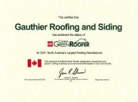 GAF Green Roofer Certificate