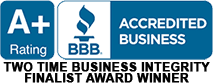Better Business Bureau A+ Accreditation Badge