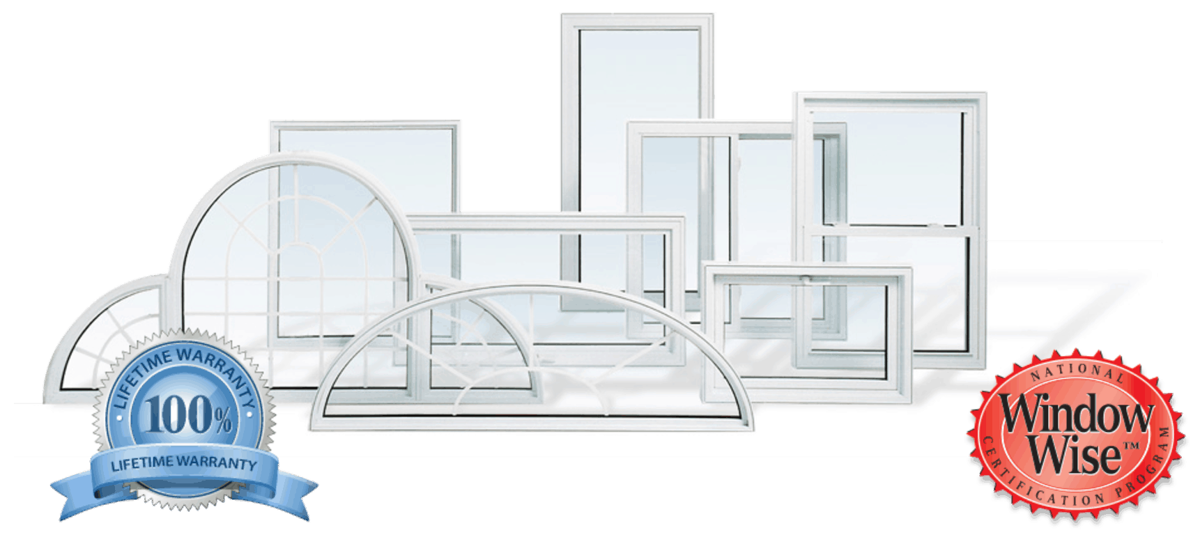 Various Window Styles with Guarantee and Window Wise Trust Seals