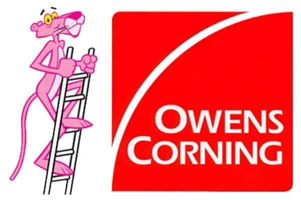 Owens Corning Pink Panther Roofing Products Logo