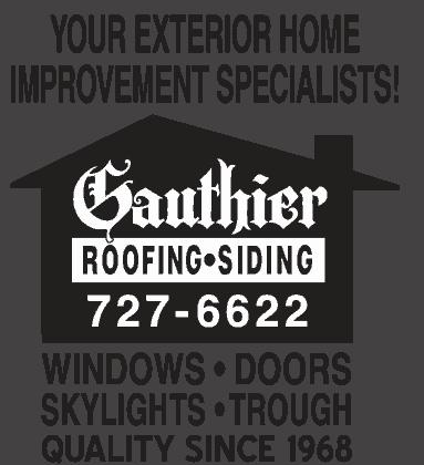 Gauthier exterior home logo